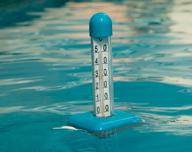 bazénový teploměr