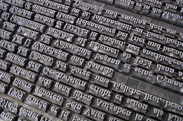 písmena na tisk