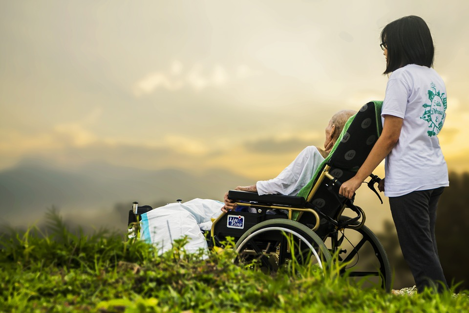 pacient na vozíku